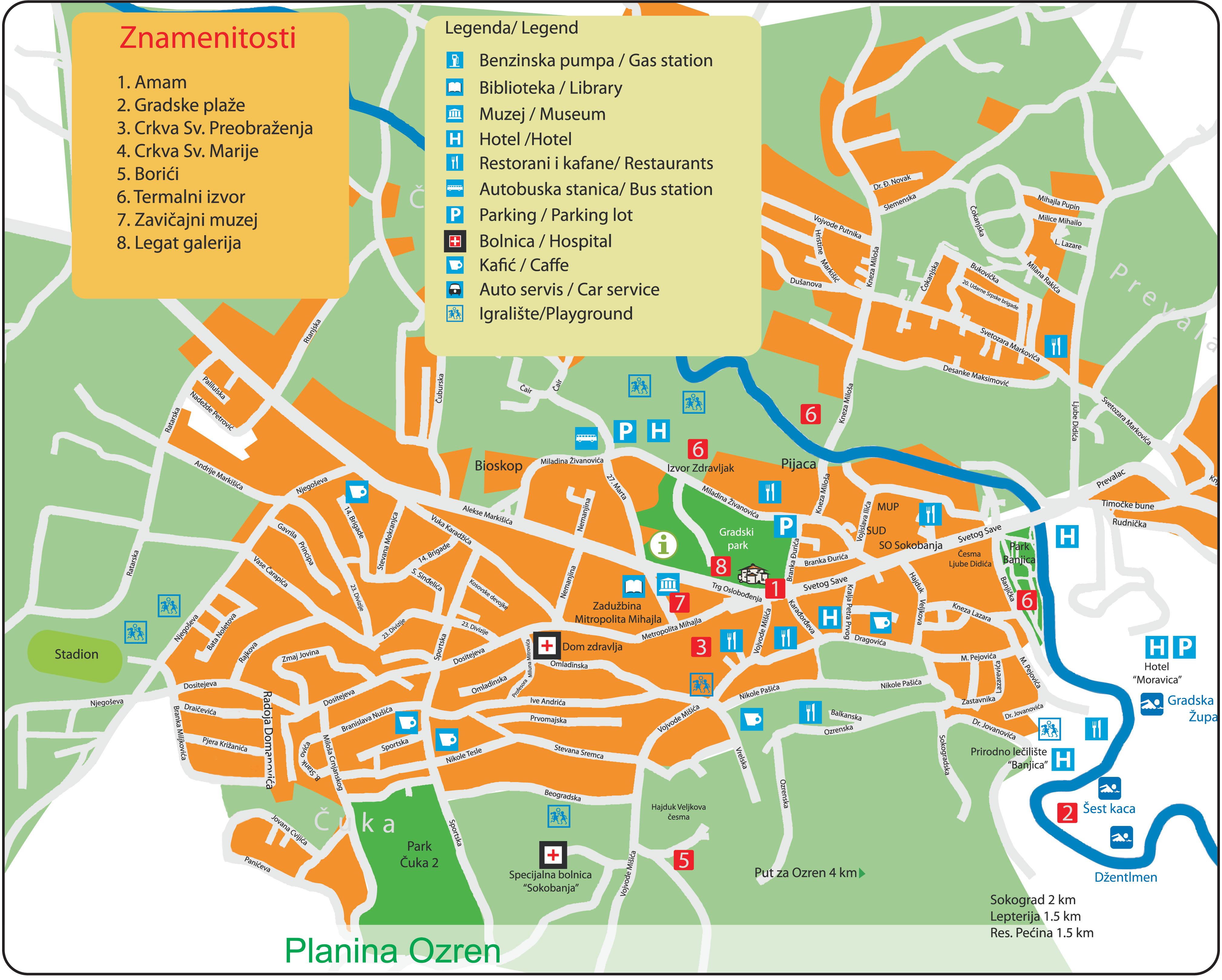 beograd i okolina mapa Mapa Sokobanje beograd i okolina mapa